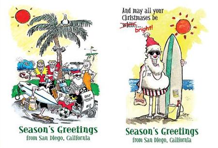 san diego christmas cards surf s up san diego santa